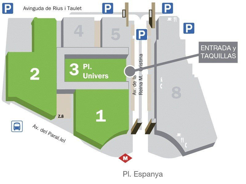 Plano Salon ocasion Barcelona