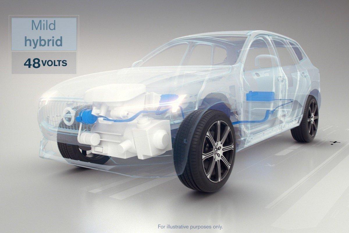 Volvo híbrido enchufable 48 voltios