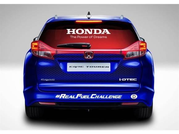 El Honda Civic Tourer intenta batir el récord Guinness de eficiencia
