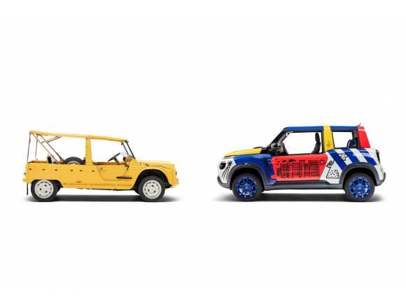 El Citroën E-Mehari se convierte en un art car por su 50 aniversario