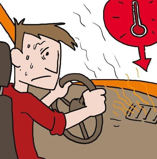 golpes de calor coche