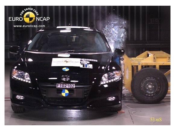Honda CR-Z: máxima calificación en las pruebas de choque
