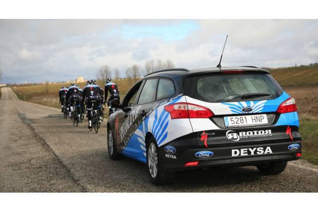 Ford y el Focus Electric en una jornada ciclista con la Fundación Alberto Contador
