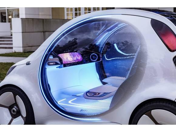 Smart vision EQ fortwo: coche autónomo, eléctrico… y compartido