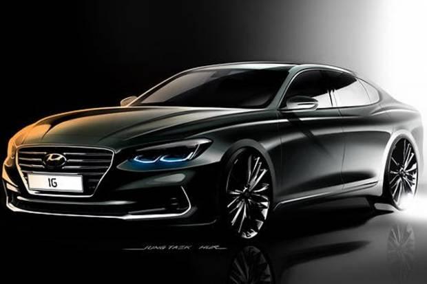 Primer boceto del Hyundai Azera 2017