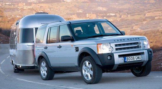 Land Rover con remolque