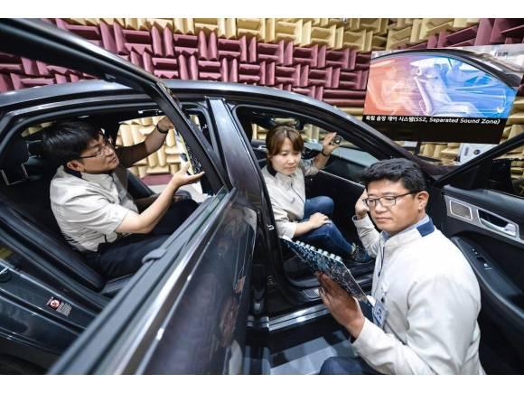 Sistema de audio Kia separado para cada pasajero