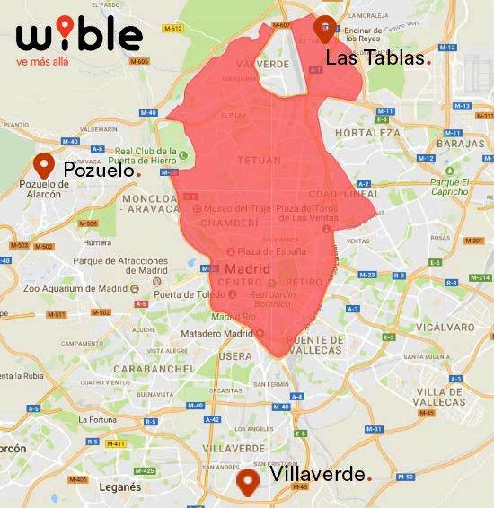 Mapa Zona Azul Y Verde Madrid.Toda La Informacion Sobre Wible La Nueva Empresa De Carsharing