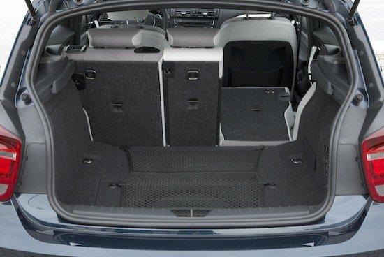 Por fin, el maletero del Serie 1 es perfectamente comparable al de cualquier compacto moderno.
