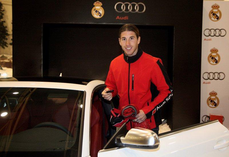 Sergio Ramos que el año pasado condujo un R8, este año ha elegido el S5
