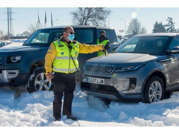 Land Rover se suma a la solidaridad estos días tras la borrasca Filomena