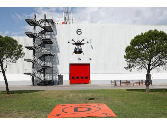 SEAT usa drones para el transporte de piezas