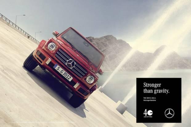 Video del Mercedes G poniendo a prueba su inclinación lateral máxima