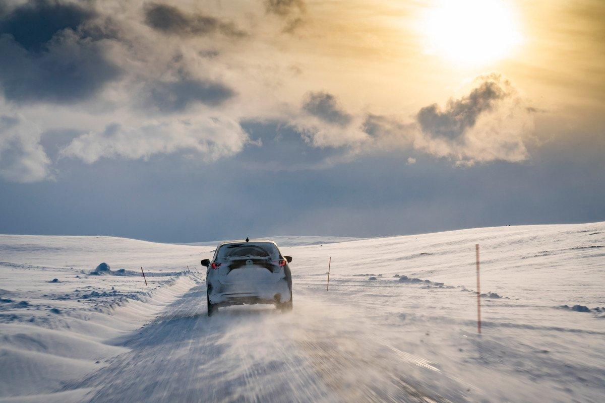 Mazda CX-5 circulo polar artico