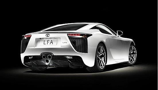 Lexus LFA, vista trasera