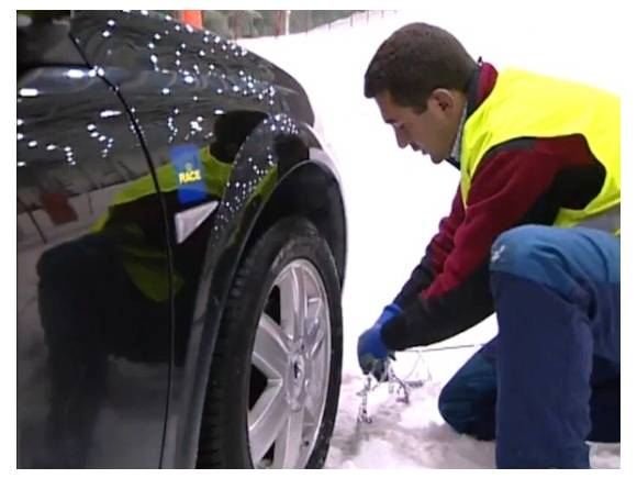 Cadenas de nieve para el coche: ¿Cómo colocarlas?