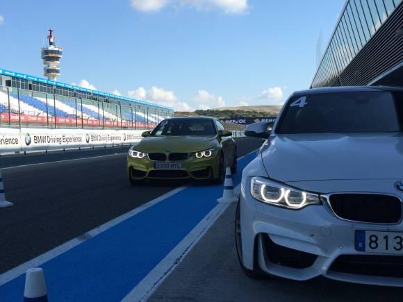 Prueba BMW M3 y BMW M4 en circuito