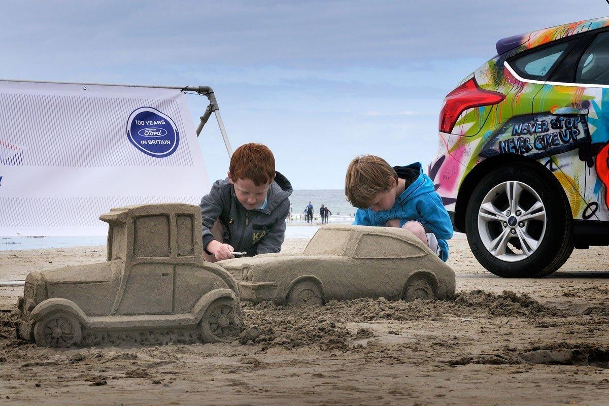 Cuidado coche playa