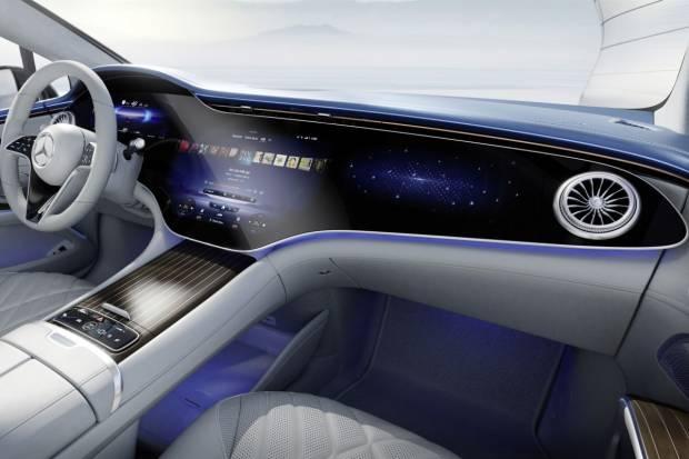 Así es el espectacular interior del Mercedes-Benz EQS