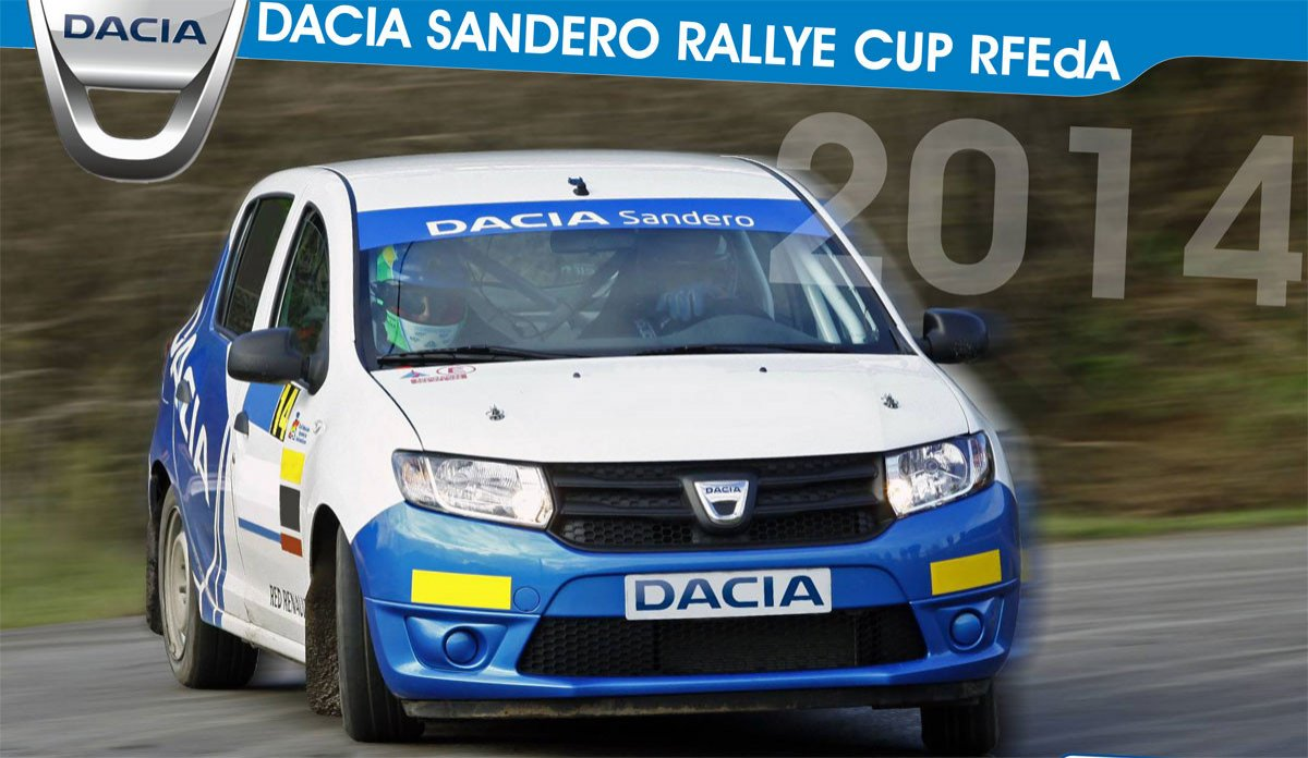 rally dacia sandero rally cup promoci n en los rallyes. Black Bedroom Furniture Sets. Home Design Ideas