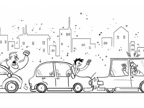 Un estudio de Goodyear revela que la agresividad al volante se contagia