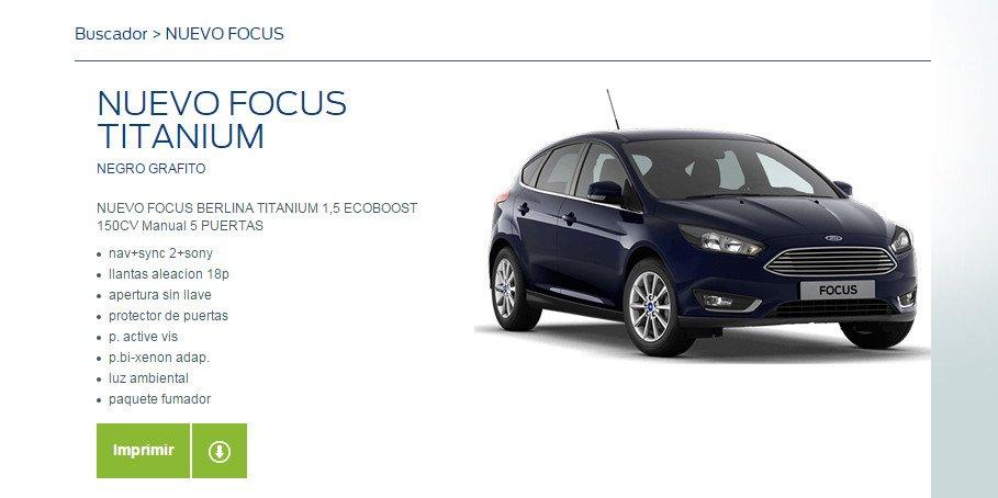 oferta Ford Focus
