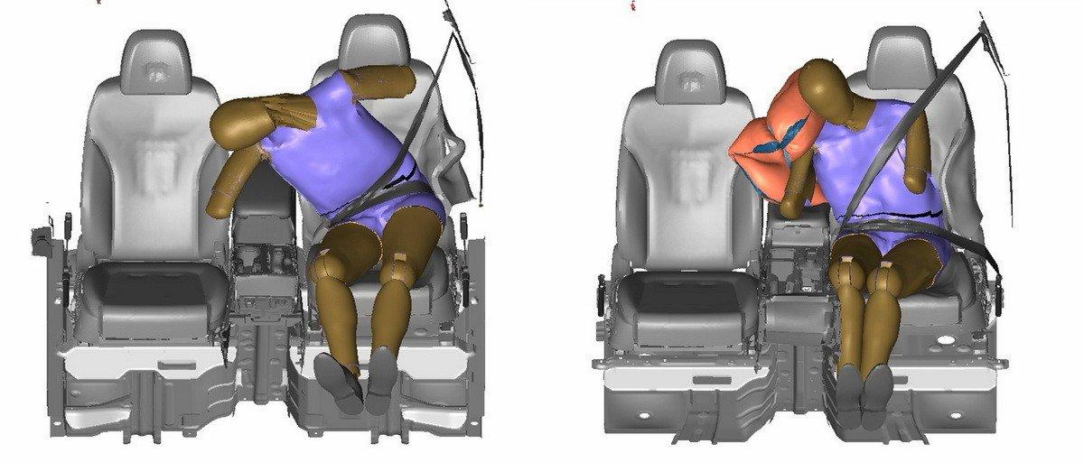Hyundai desarrolla un nuevo airbag lateral situado entre el conductor y el copiloto
