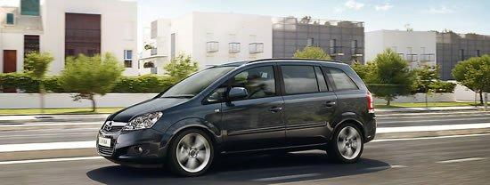 El Opel Zafira te ofrece 7 plazas en un diseño compacto