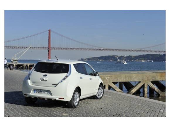 Prueba: Nissan Leaf, el coche eléctrico de Nissan se estrena en Lisboa