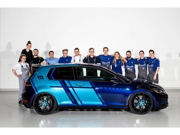 Los estudiantes presentan el Volkswagen Golf GTI Wörthersee 2017
