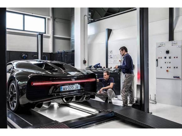 Los Bugatti Chiron llevan telemetría como un F1