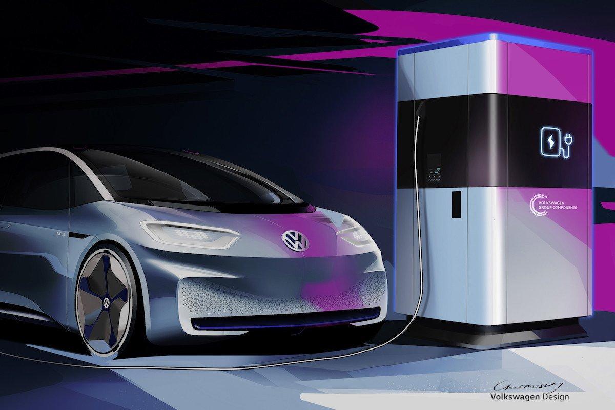 Punto de recarga móvil Volkswagen