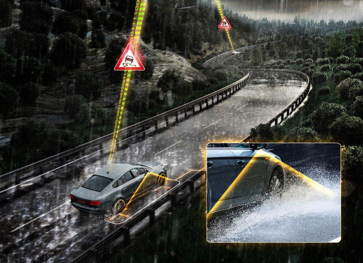 Continental te avisa de riesgo inminente de aquaplaning