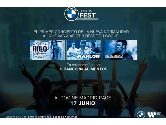 BMW Drive-in Fest: el primer concierto tras la crisis del coronavirus, desde el coche
