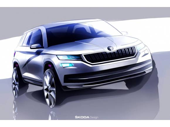 Primer boceto del futuro Skoda Kodiaq