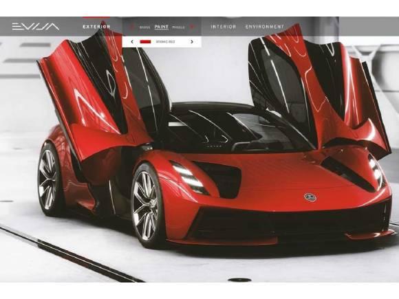 Así es el Lotus Evija, con 2.000 CV y su imponente configurador