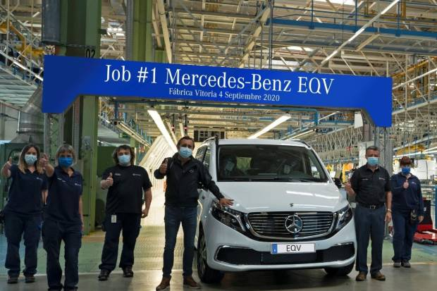 Nuevo Mercedes-Benz EQV: ya salen las primeras unidades de la fábrica de Vitoria