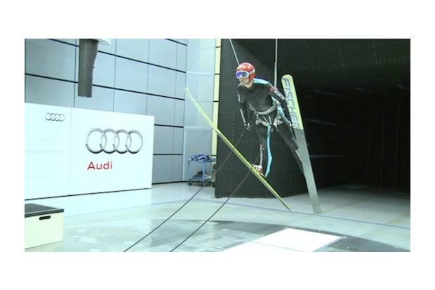 Vídeo: Esquiadores en el túnel de viento de Audi