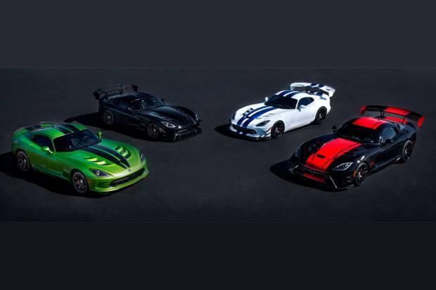 Así serán los últimos cinco Dodge Viper