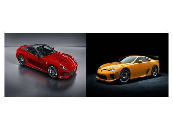 Ferrari 599 GTO vs Lexus LFA Nürburgring Edition. ¿Cuál es mejor?