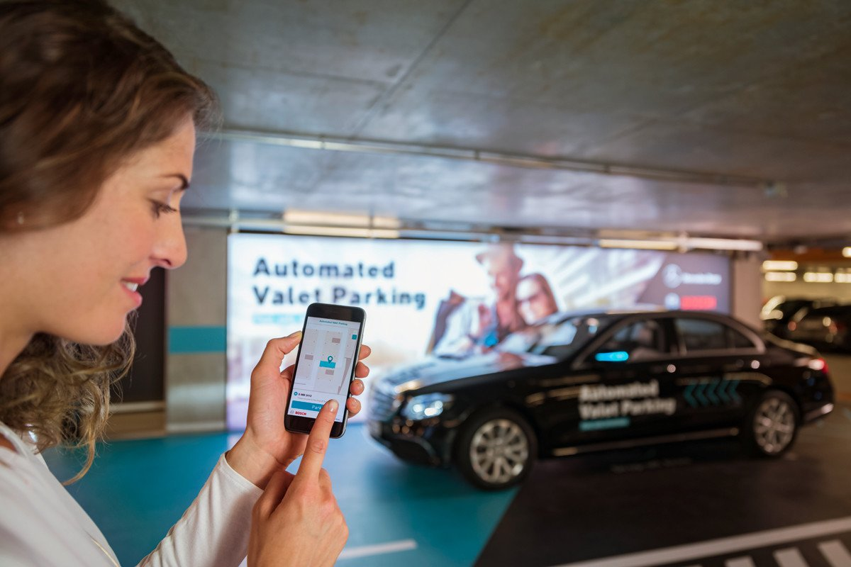 Aparcamiento automatico Mercedes Bosch