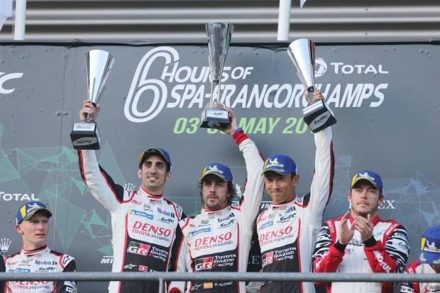Fernando Alonso y Toyota ganan las 6 Horas de Spa