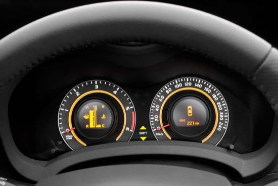 Detalle de las esferas del Toyota Auris