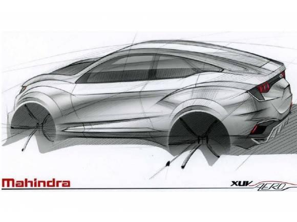 Primer boceto del Mahindra XUV Aero SUV Concept