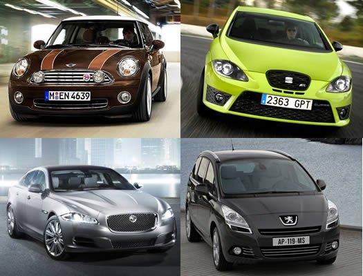 ¿Cuál es la potencia indicada para cada categoría de coche?