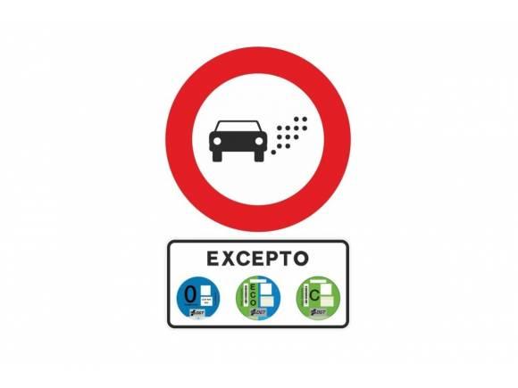 Así será la señal que avisará del acceso a una Zona de Bajas Emisiones