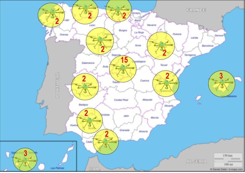 mapa dron dgt