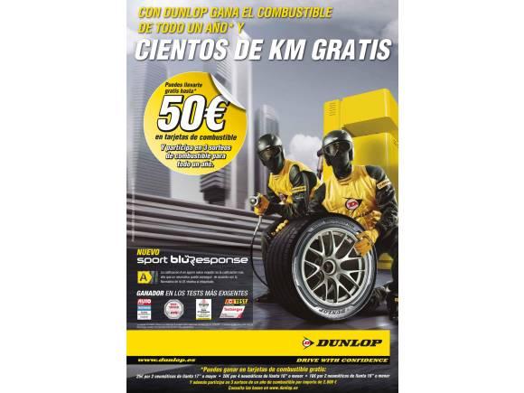Dunlop regala combustible con el cambio de neumáticos