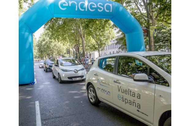 Vuelta a España en coches eléctricos con Endesa