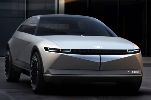 Hyundai 45 EV Concept: un homenaje al Pony Coupe Concept